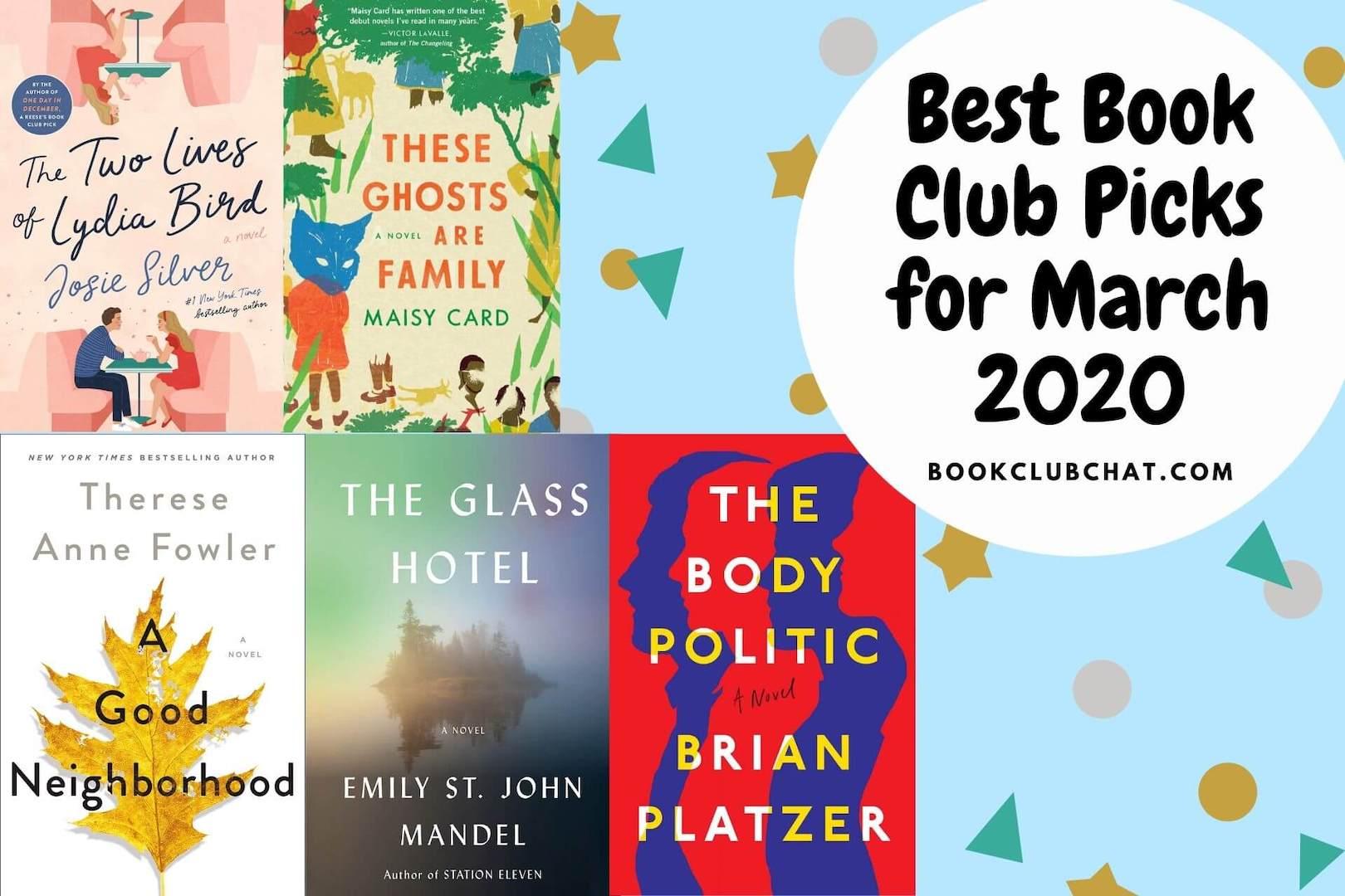 best book club books march 2020 - book club chat