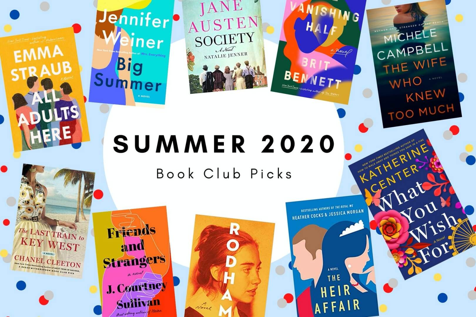 summer 2020 book club picks - book club chat