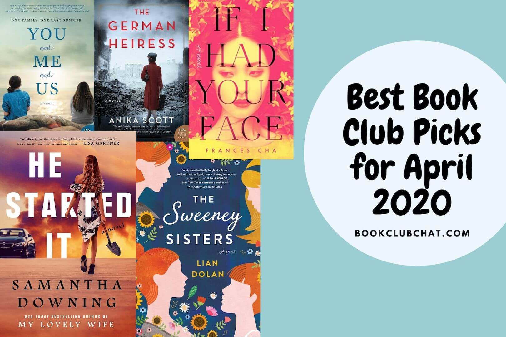 Best Book Club Picks for April 2020 - book club chat