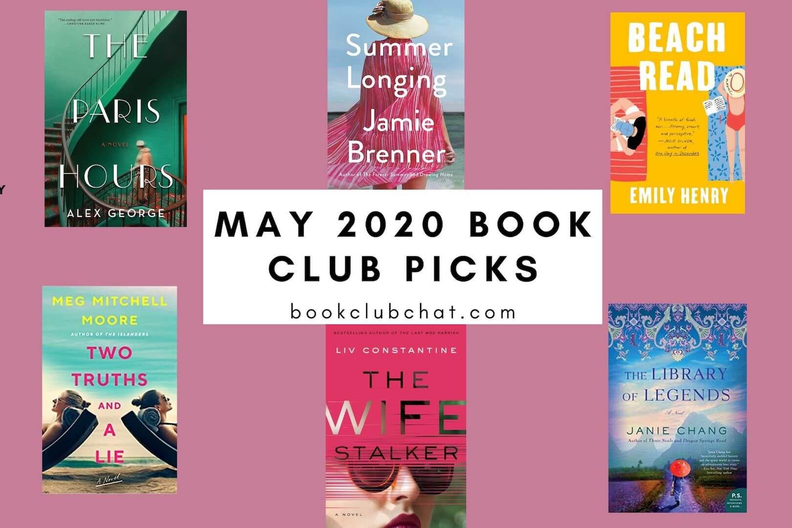 may 2020 book club picks - book club chat